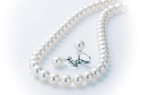 ネックレス&イヤリングセット_8.0-8.5ミリ珠